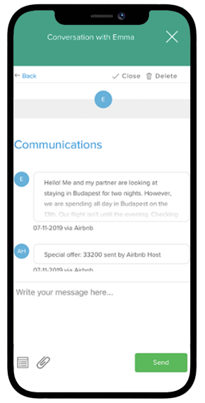 Airbnb guest messaging