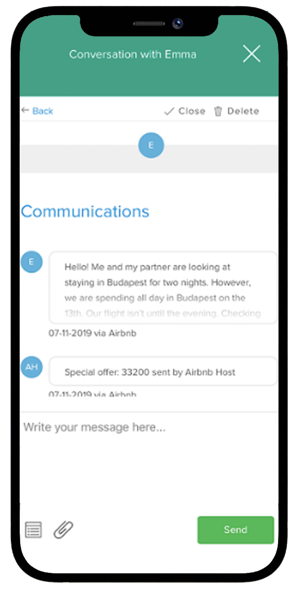 Integración de mensajes con Airbnb