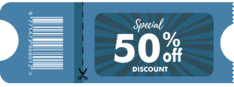 Discount coupon example